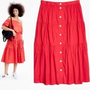 Madewell Bistro Midi Skirt Size XS